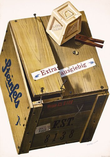 17: Old Original HERBERT LEUPIN Poster 1940s