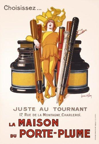 19: ORIGINAL JEAN D'YLEN Poster 1920s Ink Pen