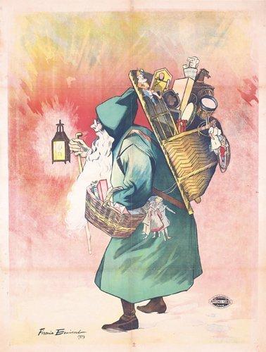 20: Original 1890s Bouisset Santa Claus Poster
