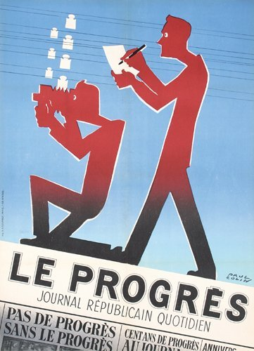 23: Original PAUL COLIN Newspaper Poster 1950s