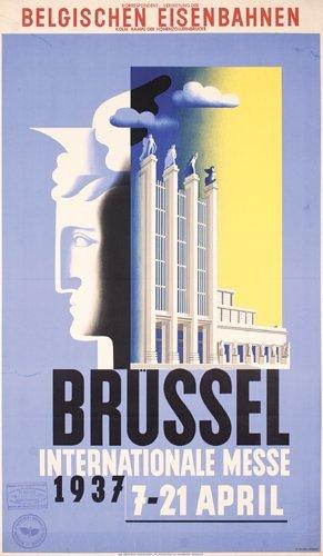 24: Original Brussels Fair Poster 1930s