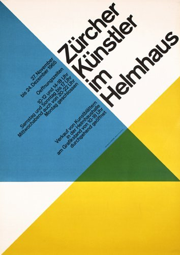 88: Original 1960s Swiss Design Poster Plakat