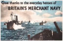 222: Original British WW II Merchant Navy Poster