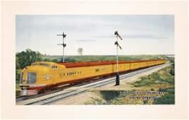 381: Original 1930s Union Pacific Rail Poster