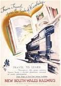 408: RARE Original 1930s NSW Rail Poster