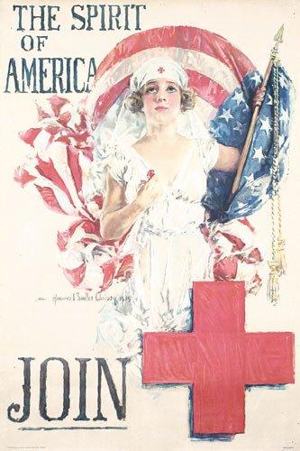 3: ORIGINAL  WW I Spirit of America Poster CHRISTY