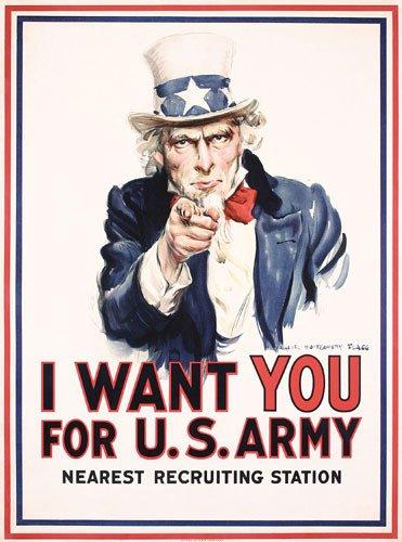 20: ORIGINAL Uncle Sam I want you Poster Flagg 1917