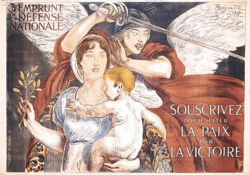 21: ORIGINAL French WW I Poster by Besnard 1917