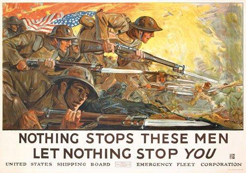23: GREAT US WW I Morale  Poster 1917 ORIGINAL