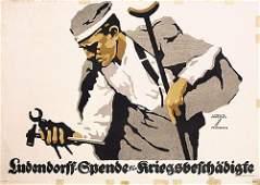 ORIGINAL Ludwig Hohlwein Poster WW I Large Size