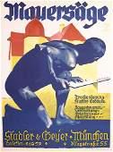 ORIGINAL Vintage Ludwig Hohlwein Poster 19320s