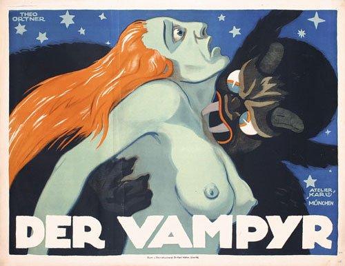 244: ORIGINAL Vampyr  Film Poster 1920 Expressionist