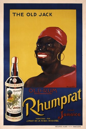 3: Rare 1920s Rum Poster Rhumprat Old Jack