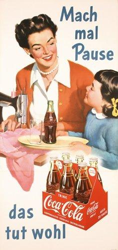 12: Great Original 1950s Coca Cola Poster Plakat