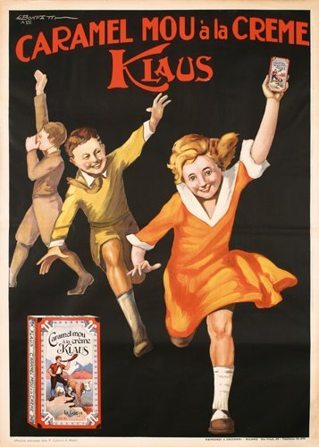 15: Original 1920s Caramel Klaus Poster BONFATTI