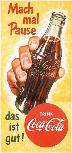 22: Old 1950s Coca Cola Poster Plakat