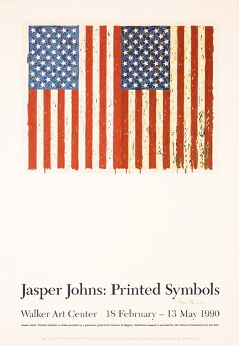 87: Original Jasper Johns Poster HAND-SIGNED