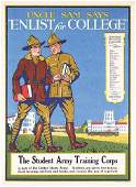 115: rare Original US WW I Poster Enlist for College