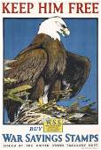123: Original US WW I Poster Keep him free