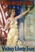 132: Original US WW I Poster CHRISTY Americans All!