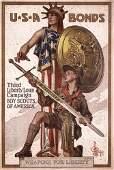 134: ORIGINAL US WW I Poster LEYENDECKER Boy Scouts
