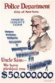 161: Group of 3 US WW I Posters Uncle Sam Police