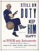 181: RARE Original Sailor Navy US WW I poster