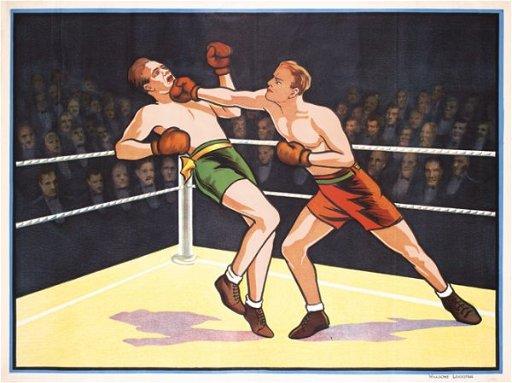 247: Original Vintage Boxing Poster 1920s