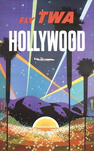 359: Original TWA Hollywood Travel Poster KLEIN