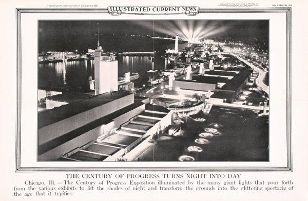 5: Original 1930s Chicago World's Fair Posters (3)