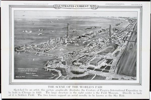 5: Original 1930s Chicago World's Fair Posters (3) - 3