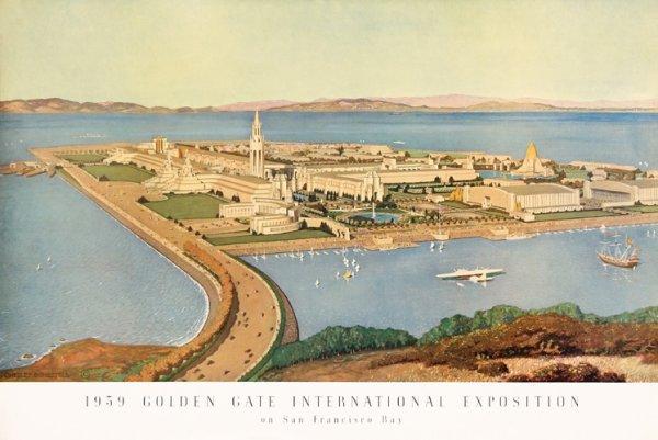 8: ORIGINAL 1939 World's Fair Poster CHESLEY BONESTELL