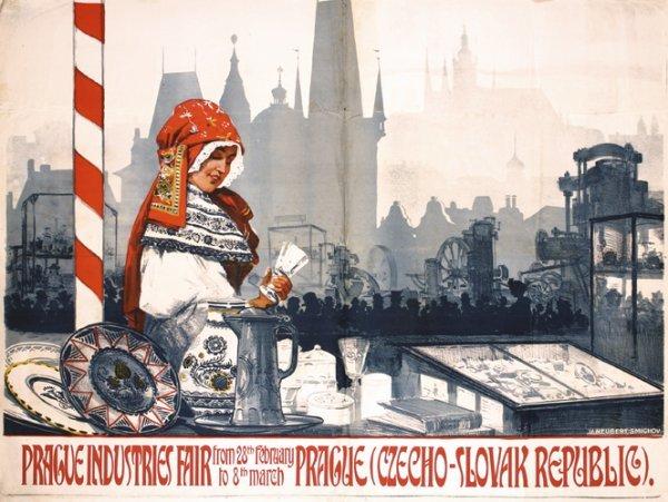 14: Huge Original Prague Fair Poster 1920s Plakat