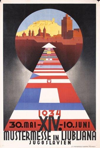 17: Original 1930s Ljubljana Fair Poster Yugoslavia