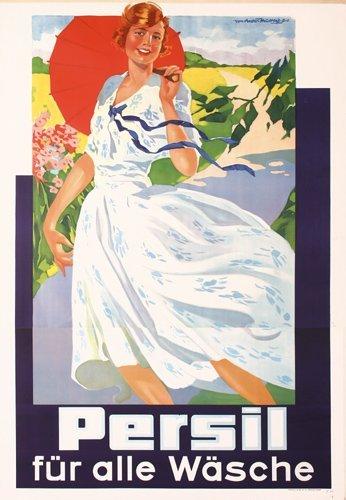 19: BEAUTIFUL Original 1930s Persil Poster Plakat