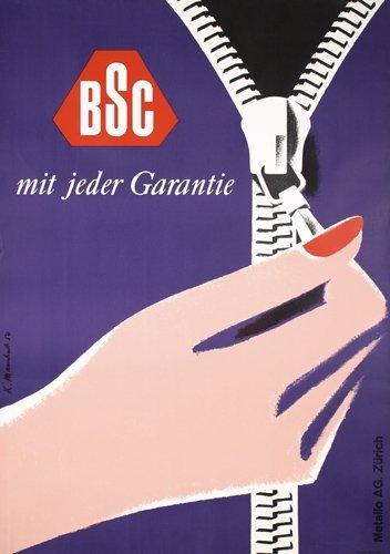 22: Original Swiss Design Poster BSC 1950s