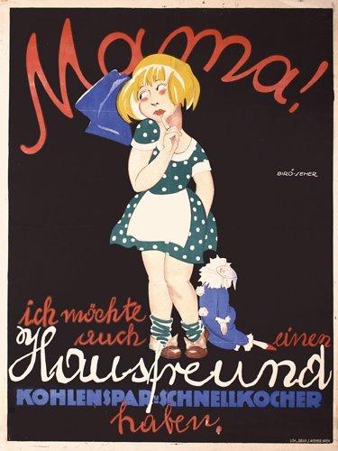 23: Old Original Poster Plakat MIHALY BIRO 1920s