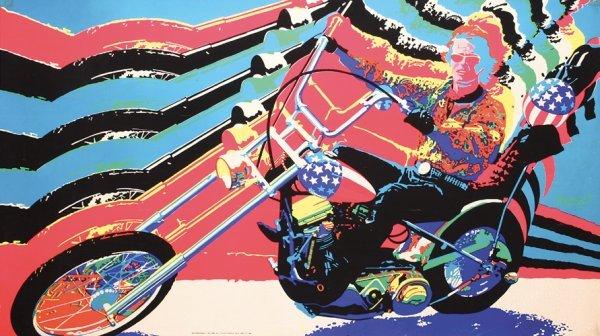 98: Original Peter Fonda Easy Rider Blacklight Poster