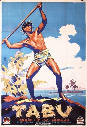 162: RARE ORIGINAL Tabu Poster 1930s Plakat