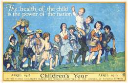 239: ORIGINAL US WW I Poster MORA Children's Year