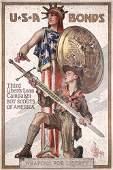 240: Original LEYENDECKER US WW I Boy Scouts Poster
