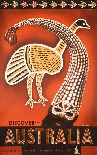 418: RARE ORIGINAL Eileen Mayo AUSTRALIA Travel Poster
