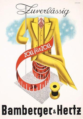 3: Original 1930s Bamberger Advertising Poster