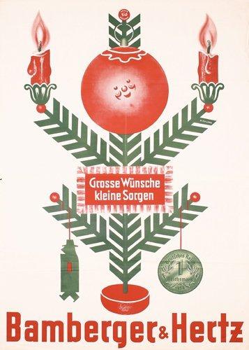 4: Original Bamberger Hertz Ad Poster 1930s