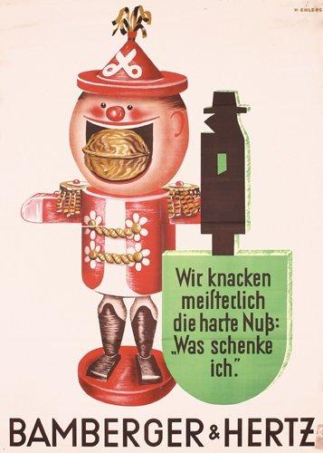 6: Original 1930s Bamberger Hertz Nutcracker Poster