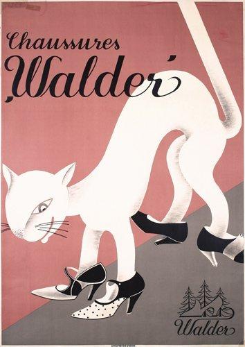 7: Original Walder Shoe Advertising Poster 1930s