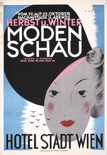 9: Rare Original 1930s Vienna Fashion Poster