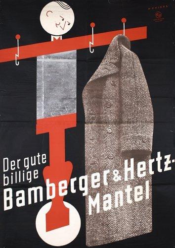 10: Original 1930s Bamberger Hertz Poster
