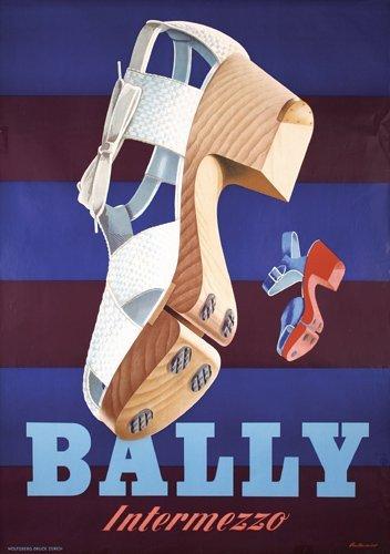 12: Original 1940s Bally Shoe Advertising Poster