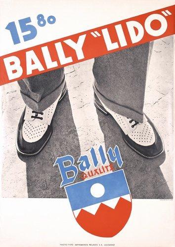 13: Original 1930s Bally Lido Shoe Poster